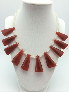 extremely beautiful necklace, precious gemstone stainlee steel 1015