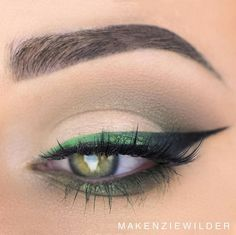 Happy Saint Patricks Day Product Details: @morphebrushes 35O palette @anastasiabeverlyhills Moss, Emerald, Peacock and Corrupt @nyxcosmetics Vivid brights liner in Vivid Envy @sigmabeauty Wicked Gel liner @benefitcosmetics They're Real mascara @sigmabeauty Embellish Lash in Bang Out! @five11_cosmetics lashes in Demi @anastasiabeverlyhills #dipbrow in Granite All brushes used were @sigmabeauty (use code: 'MAKENZIE' for 10% off)