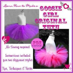 Goosie Girl Style Tutu Skirt | Easy costumes, perfect for Halloween costumes and everyday dress up!