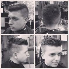 Under cut men's hair