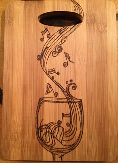 A personal favorite from my Etsy shop https://www.etsy.com/listing/481473426/cutting-board-wood-burned-with-a-musical