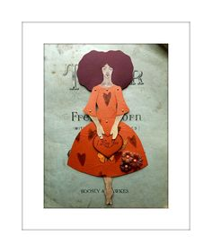 Jointed Paper Doll Message of your choice I Love by JuliaPeculiar