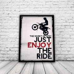 Shop Motocross t-shirts. Motocross Bedroom, Motocross Baby, Dirt Bike Room, Bike Poster, Bmx Bikes, Motorcycles, Extreme Sports, Frames On Wall, Kids Room