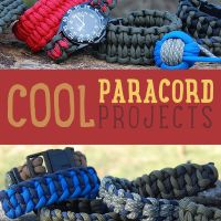 Cool Paracord Projects We love 550 paracord projects, and there are so many to choose from these days. Survival bracelets, paracord belts, watches, monkey fists, lanyards, gear wraps and 100's of other creative and cool ideas. Super durable and strong, paracord is also stylish and can be foundin all colors of the rainbow, plus