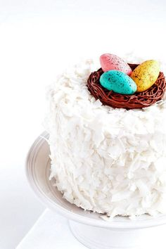 Coconut Buttercream Frosting | The Bearfoot Baker Easter Cake | Easter | Easter Treats | Buttercream Frosting | Coconut Frosting | Coconut Buttercream Frosting | Frosting Recipe | Buttercream Recipe | Coconut Cake | Coconut Cake Recipe