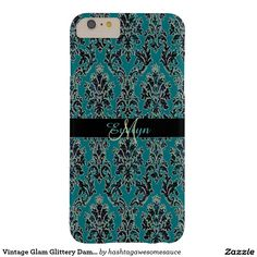 #Vintage Glam Glittery# Damask #iPhone 6 Plus Case  #zazzle