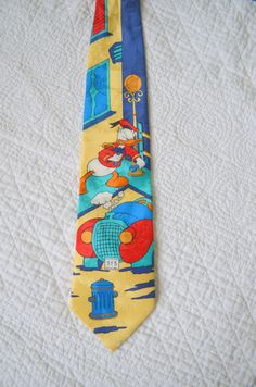Vintage Disney Donald Duck Tie Mickey Mouse & Co Tie Rack Retro Throw Back…