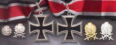 Knights' Cross with Devices. (Oak Leaves, Oak Leaves w/ Swords, Oak Leaves w/ Swords and Diamonds, Oak Leaves, w/ Swords and Diamonds in Gold.)