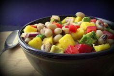 Black Eyed Pea & Mango Salad w/Honey-Cumin Vinaigrette