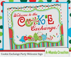 Cookie Exchange Party Welcome Sign