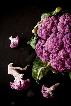 purple cauliflower.