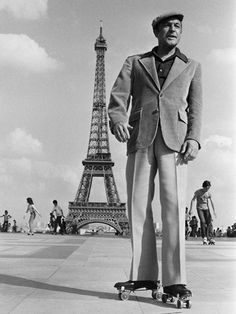 Gene Kelly on roller skates. In Paris. It doesn't get better than this.