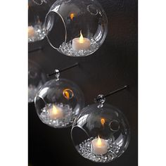 whirly hanging tea light candle holder  | CB2 #cb2 #walldecor #tealight