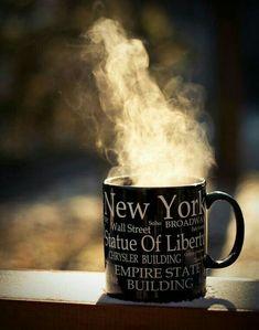 New York City Feelings. I bought a mug like this to remind me of NYC Nyc Coffee, I Love Coffee, Coffee Break, Morning Coffee, Coffee Cups, Cozy Coffee, Morning Joe, Coffee Girl, New York Soho