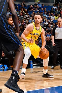 6efcfe2204f6 Stephen Curry of the Golden State Warriors handles the ball during the game  against DJ Augustin of the Orlando Magic on February 28 2019 at Amway.