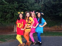 Diy Winnie The Pooh Costume Ideas - For the shirts i first printed out a template using this font. Winnie the pooh family halloween costumes. Diy Winnie The Pooh And Friends Costume Unde. Cute Group Halloween Costumes, Costumes For Teens, Cute Halloween Costumes, Halloween Kostüm, Diy Costumes, Costume Ideas, Disney Group Costumes, Family Costumes, Family Halloween