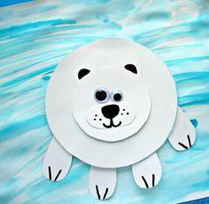 11 Winter Wonderland Animal Crafts Inspiration Of Paper Plate Animals Craft Images. Christmas Crafts For Toddlers, Animal Crafts For Kids, Winter Crafts For Kids, Toddler Crafts, Preschool Crafts, Winter Kids, Ice Crafts, Snow Globe Crafts, Bear Crafts
