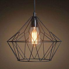 Vintage Industrial Iron Cage Pendant Light Hanging Lamp Art Deco Light – westmenlights--Edison industrial lighting supplier and designer