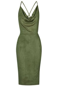 **Faux Suede Cowl Neck Dress by Rare - Dresses - Clothing - Topshop Europe