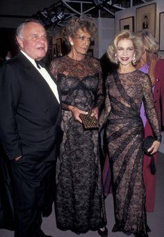 Bill Blass, Pat Buckley and Lynn Wyatt attend the  'Costume Institute Gala' on December 4 1995 at the Metropolitan Museum of Art in New York.