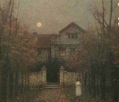 Jakub Schikaneder (Czech, 1855-1924). Evening in the Garden. c.1907-09.