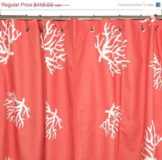 Shower Curtain. Coral Shower CurtainsCurtains U0026 DrapesBeach ...
