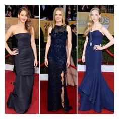 Navy Is the New Red-Carpet It Color Which Blue Gown Gets Your Vote? ❤ liked on Polyvore