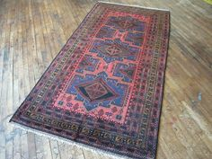 Vintage Baluchi persa alfombra 4'2 x 8'1Hunttrugs por HunttRugs