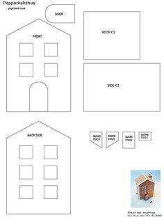 Printable Gingerbread House Patterns Mansion | Recent Photos The Commons Getty Collection Galleries World Map App ...