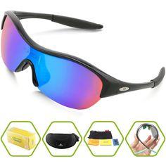 2289239b83 Torege Tr90 Flexible Kids Sports Sunglasses Polarized Glasses for Junior  Boys Girls Age 3 15 Trk001