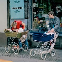 Typical strollers in soviet times. I just would like to note that many are still around. I'm just not sure how many of the modern ones will make it for the next generation. Ddr Museum, Vintage Pram, Prams And Pushchairs, Baby Equipment, West Berlin, Baby Buggy, Baby Prams, Kid Closet, East Germany