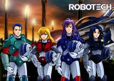 """#Robotech """"Alpha Fighter Pilots"""" Wallscroll 46x32"""" PREORDER http://robotechstore.myshopify.com/products/alpha-fighter-pilots-wallscroll-46x32-preorder… #anime"""