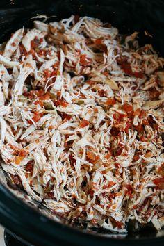 Crock Pot Salsa Chicken - Eat Yourself Skinny