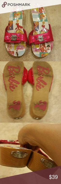 Dr. Scholls Barbie Pink Sandal 50th Anniversary 50th anniversary clogs. Size 9. Barely used, excellent condition. Only 2 tiny things I noticed are in the photos. Like new and so cute! Price is firm. Dr Scholls Shoes