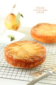 Pear Upside-Down Cake | The Faux Martha