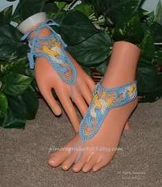 Spring Barefoot Sandals Foot Body Jewelry by gilmoreproducts33