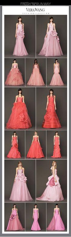 Vera Wang Fall 2014 Pink Bridal Collection | Available at The Bridal Shop at Neiman Marcus #wedding #bridalgown #weddingdress #verawang #pink