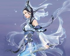 Anime Chinese Warrior | ... chinese, sword, cute, white, fantasy, blade, anime girl, sexy, anime