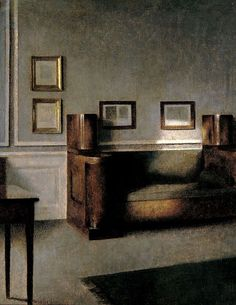 Sofa (1905) by Vilhelm Hammershoi, the master of the sober interior.