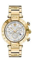 Versace Men's VQZ080015 REVE CHRONO Analog Display Swiss Quartz Gold Watch