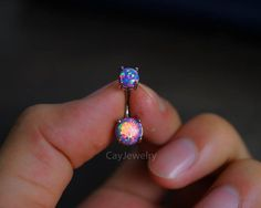 belly ring fire opal belly button ring belly button by cayjewelry