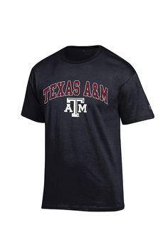 572433a6 Champion Texas A&M Aggies Black Arch Mascot Short Sleeve T Shirt, Black,  100% COTTON, Size 3XL
