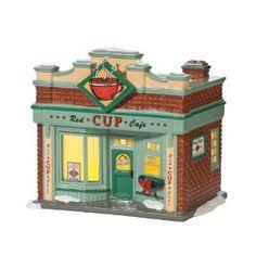 Department 56 Original Snow Village Red Cup Café Lit House