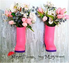 April Showers Boot Planter | AllFreeHolidayCrafts.com