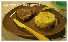 Cucinando e assaggiando...: Fagotti con crudo di Parma e contorno di patate schiacciate