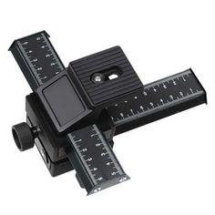 Fotodiox Macro-Rail-4 Fotodiox 4-Way Macro Focusing Rail - with Fine Tuning Control, Tripod Mountable - for Canon, Nikon, Sony, Olympus, Pentax, Panasonic, Samsung Cameras - Black