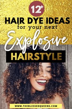 12+ Explosive Hair dye ideas for your next natural hair style! This style if for Brunettes that want omber yet simple and colorful hairstyle! Perfect for natural hair this blonde with brown mixture will look perfect for teens!