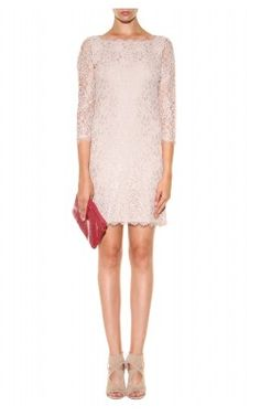 DIANE VON FURSTENBERG - Zarita Lace Dress Pink - Hire £49
