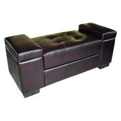 Ore International Open Storage Bench - Dark Brown - HB4242