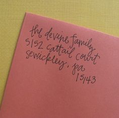 Custom Return Address Stamp... this would be a great housewarming gift!